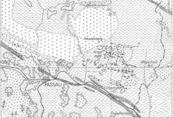 foto: geologische karte der region passau