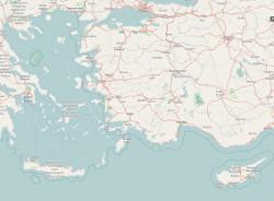 karte: griechenlands inseln und zypern